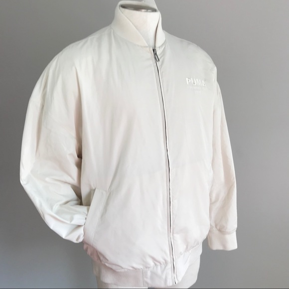 Puma men NEW select bomber jacket birch ivory M fc024d1d48ca